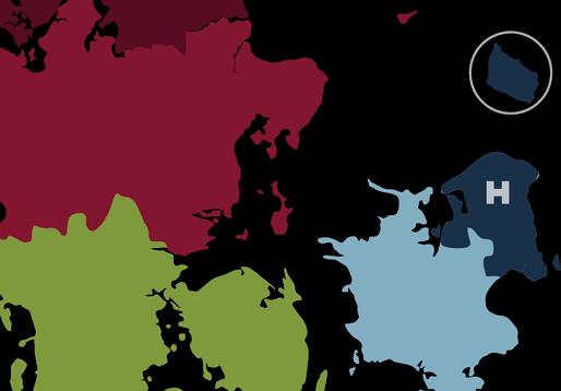 kort over regionerne hovedstaden